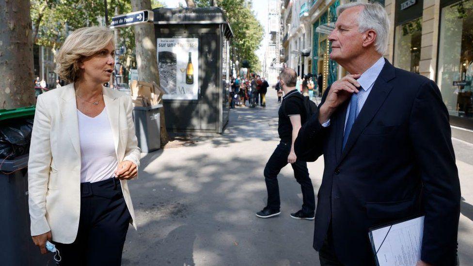 Michel Barnier's main challenger within the Republicans is Paris regional leader Valérie Pécresse