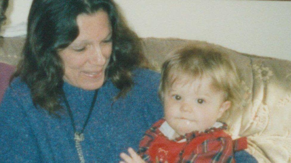 Sandra and grandchild