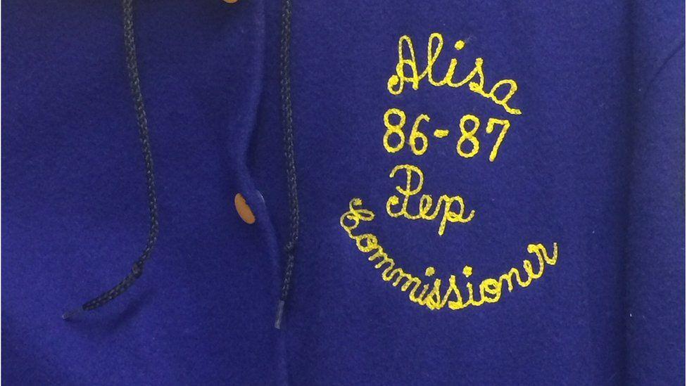 Alisa's varsity jacket
