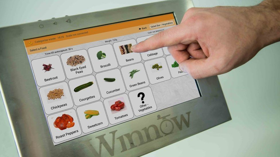 Winnow screen showing vegetables
