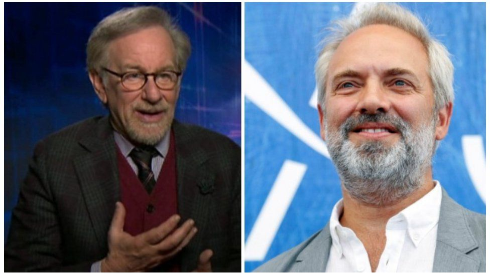 Steven Spielberg (left) and Sam Mendes (right)