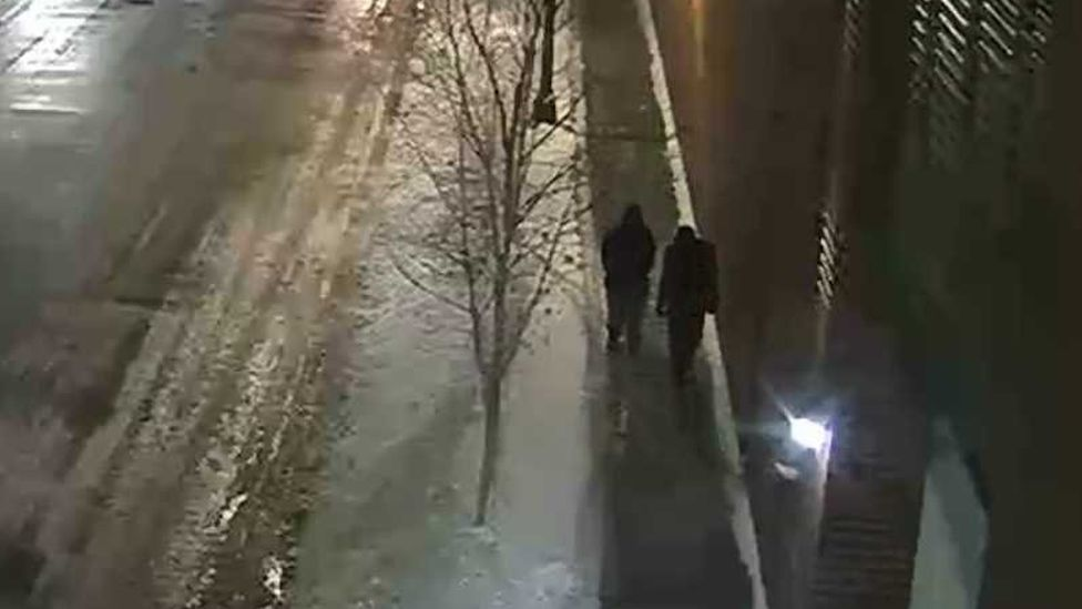 """Images of two """"people of interest"""" released by Chicago Police investigating the Jussie Smollett case"""