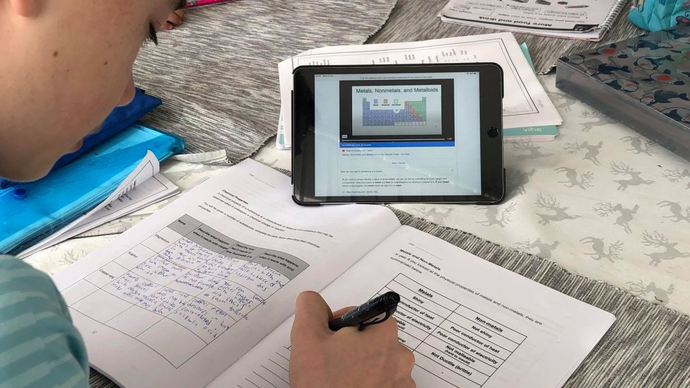 Home Schooling with the help of a tablet