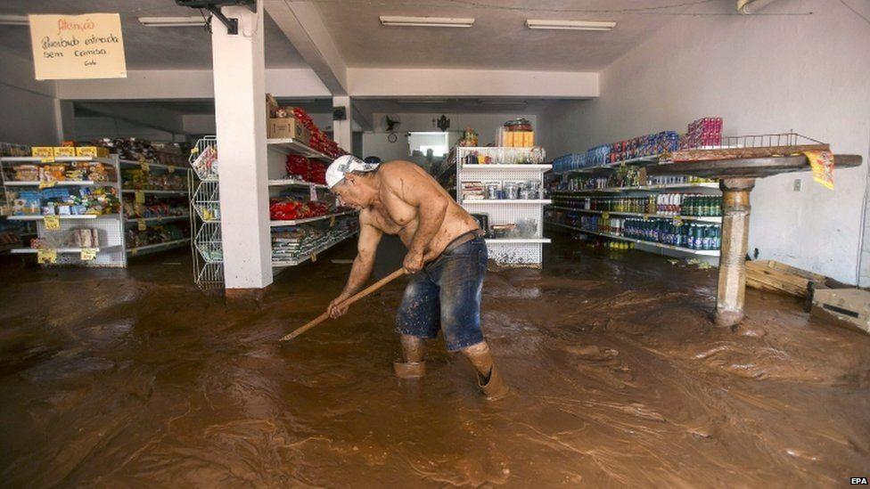 Supermarket owner in Barra Longa, Minas Gerais, Brazil
