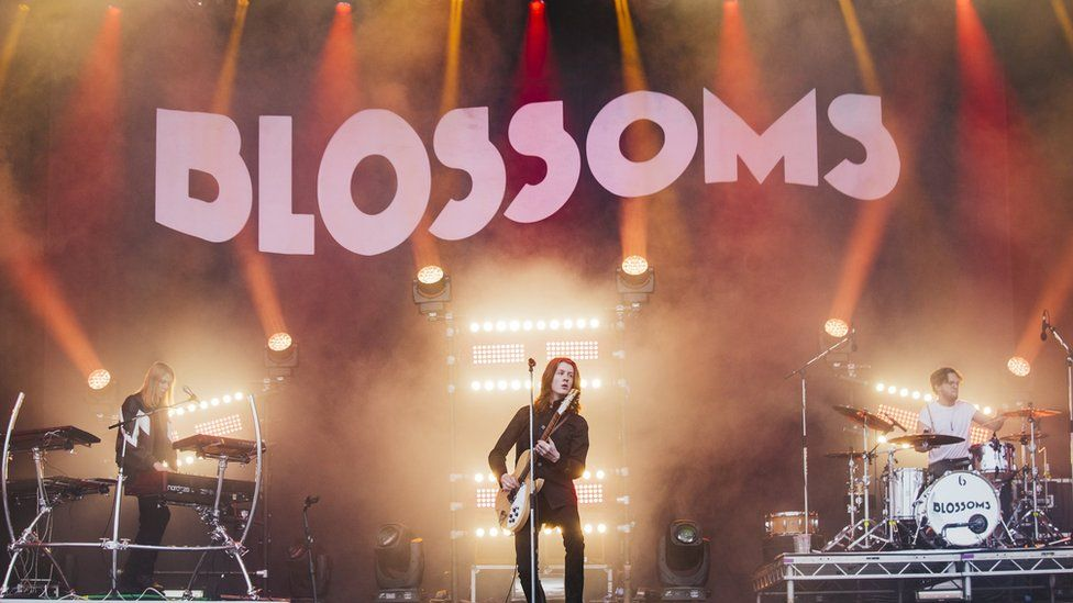 Blossoms on the main stage of Leeds Festival in 2017