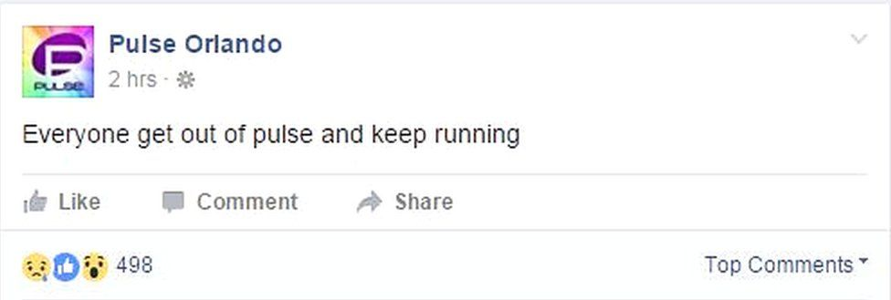 Pulse Facebook: Everyone get out of pulse and keep running