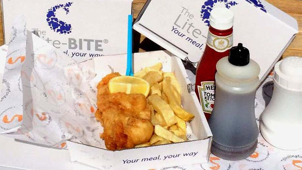 A portion of fish and chips