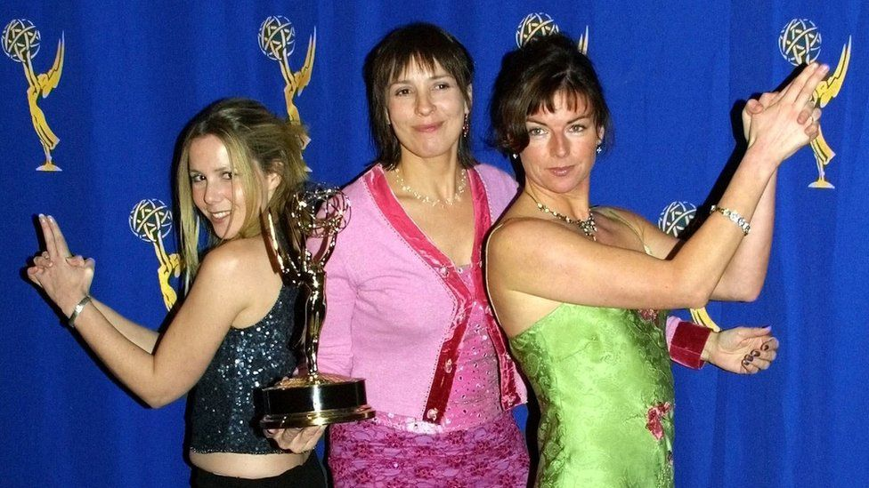 Sally Phillips (left), Victoria Pile (centre) and Doon Mackichan (right)