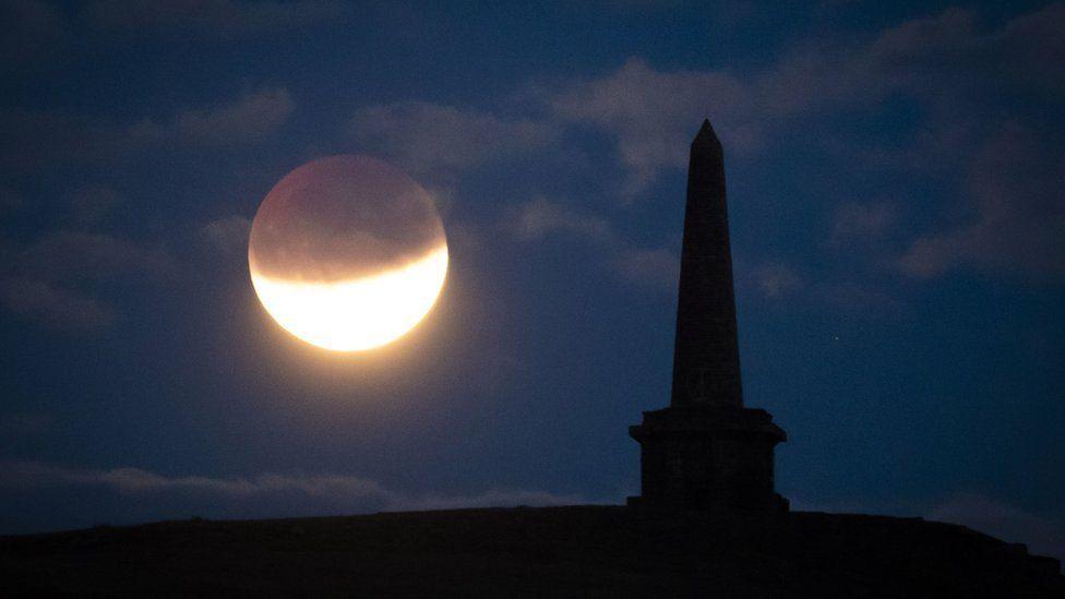 Partial lunar eclipse on 16 July 2019