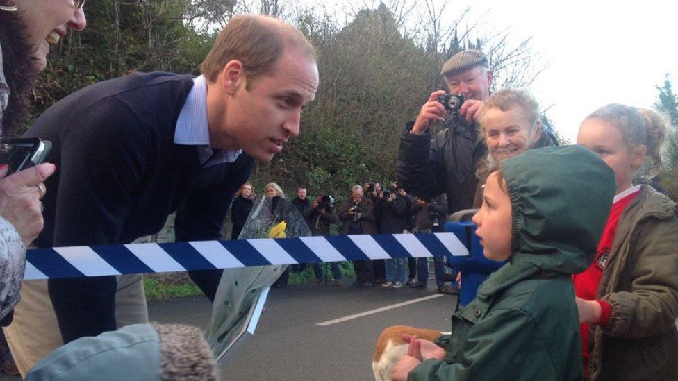 Prince Williams speak to four-year-old Esme