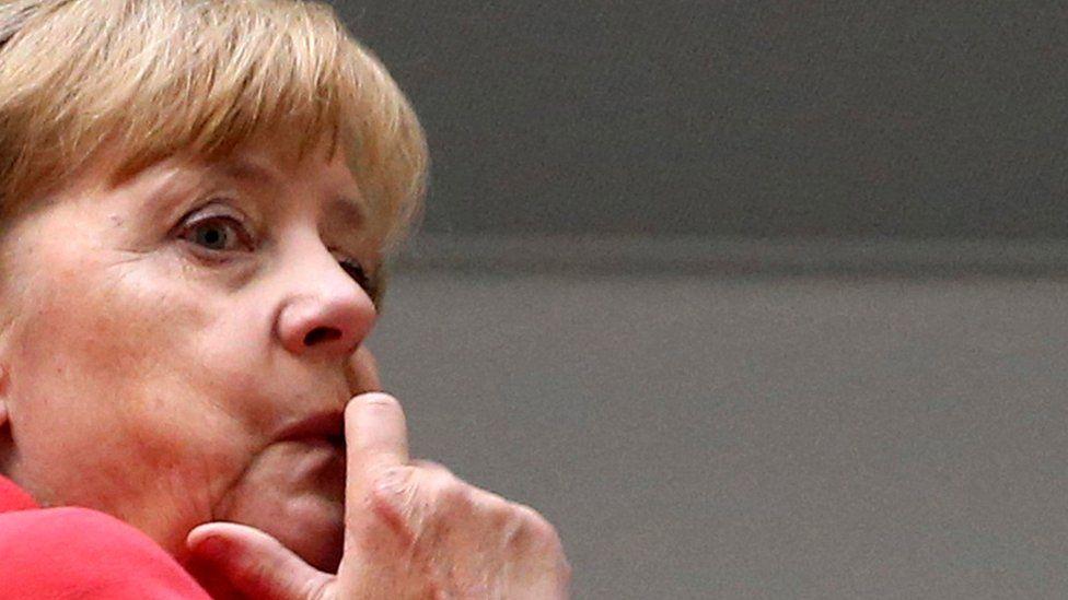 Chancellor Angela Merkel in Berlin on 19 Sept