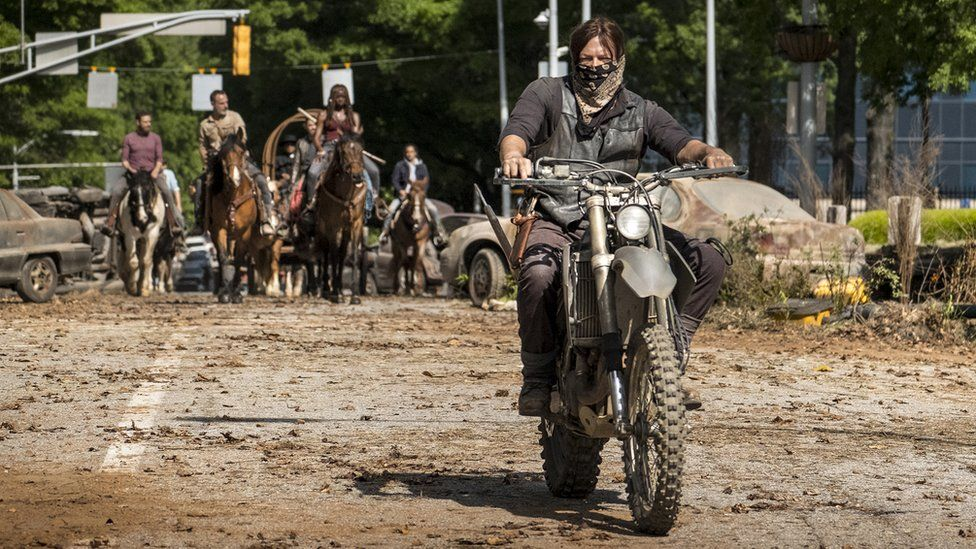Daryl, Michone, Rick and Aaron on a mission to rebuild civilisation in series nine