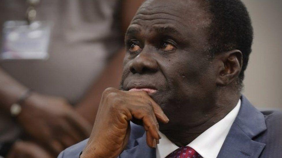 Burkina Faso interim President Michel Kafando