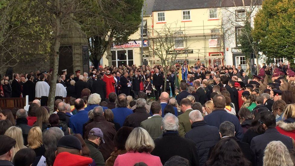 Remembrance service at Haverfordwest
