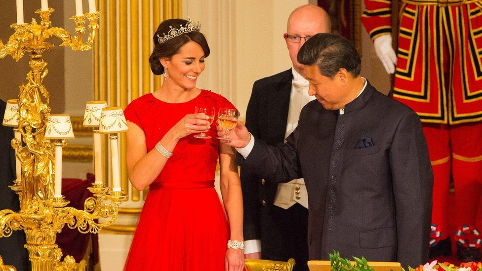 The Duchess of Cambridge with Chinese President Xi Jinping