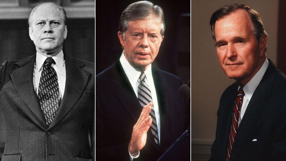 Gerald Ford, Jimmy Carter, George HW Bush