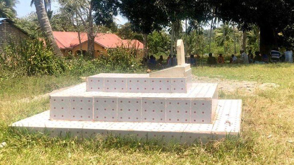A grave of an elderly man killed in Kilifi