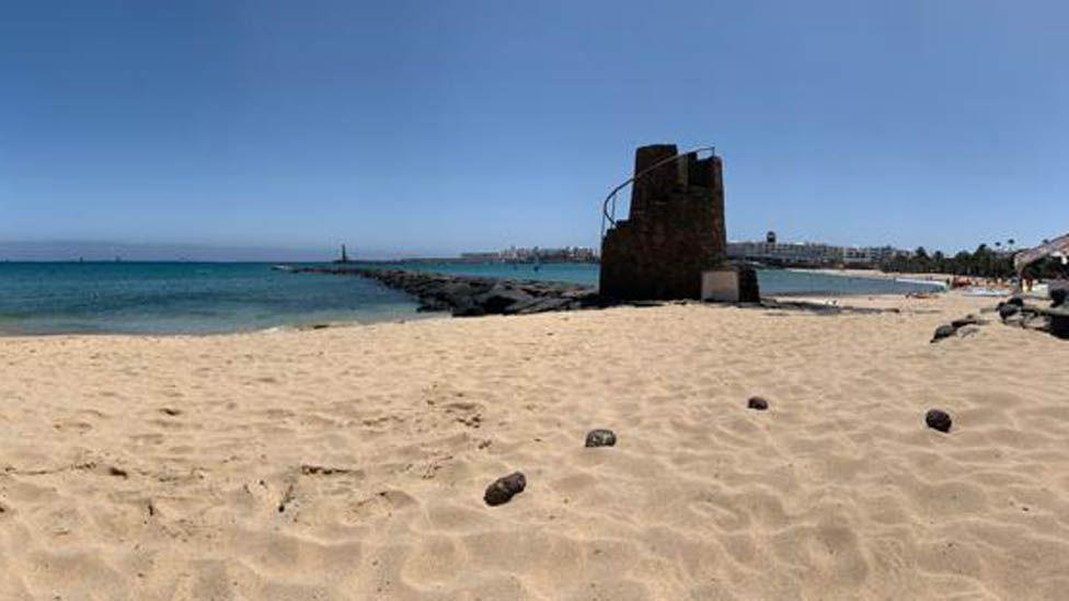 Playa de las Cucharas, Costa Teguise on Friday 24 July