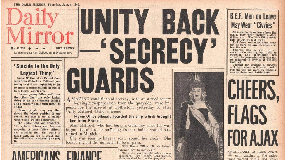 The Daily Mirror headline about Unity