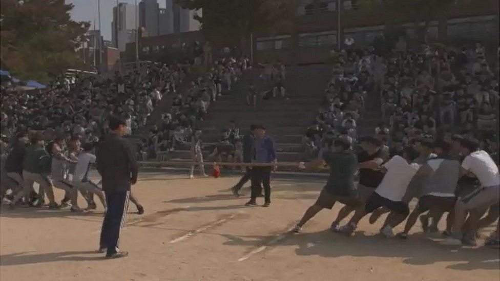 School sports day at Dankook University High School