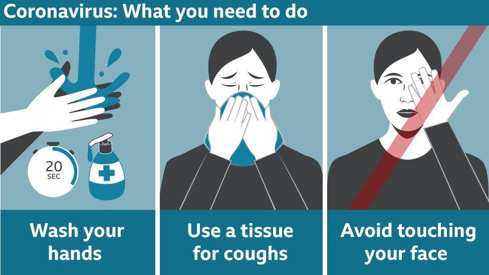 Advice on how to prevent the spread of coronavirus