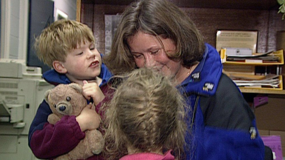 Alison Hargreaves and her children