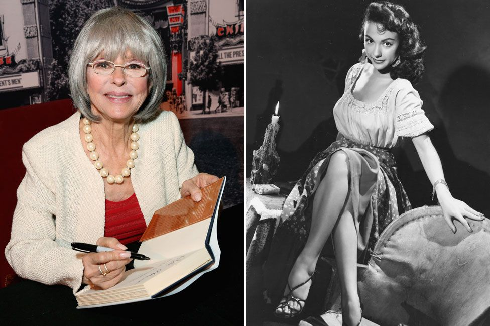 Rita Moreno, in 2016 and 1952