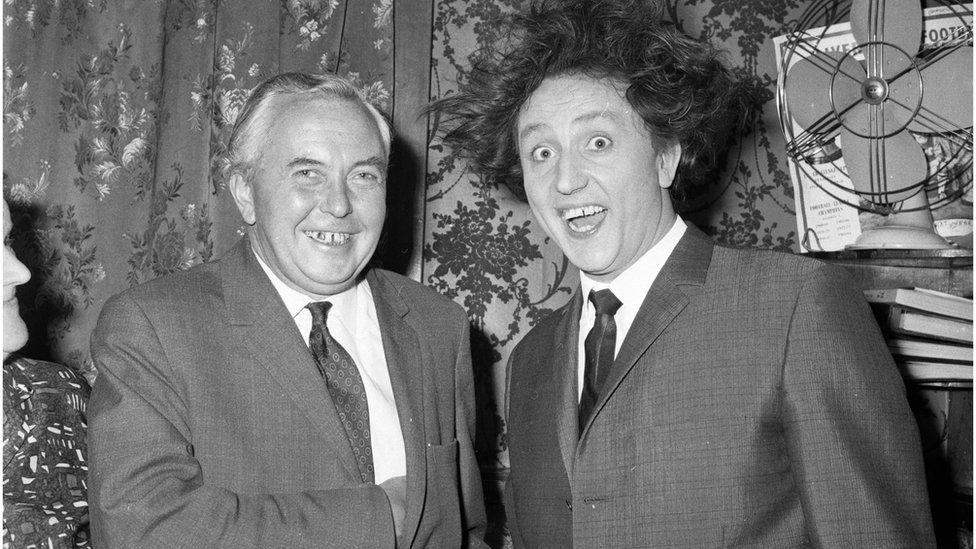 Ken Dodd and Harold Wilson