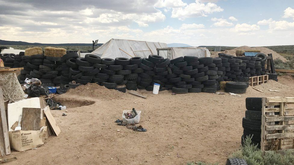 The remote compound in New Mexico August 2018