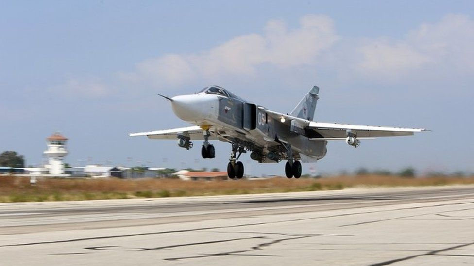 A Su-24 bomber takes off from the an airbase in Syria (file picture)