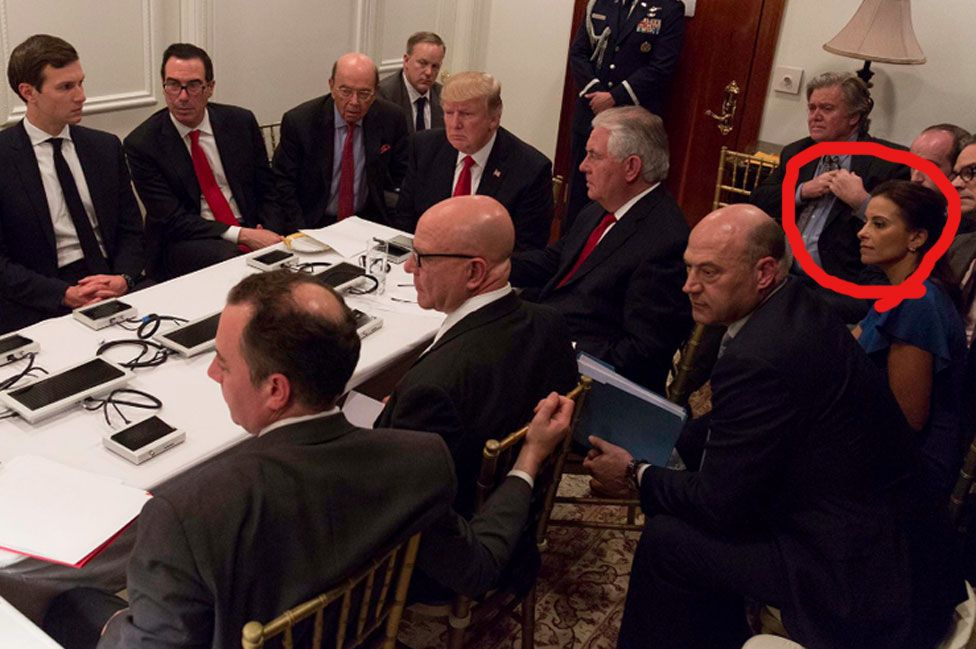 Dina Powell (circled)