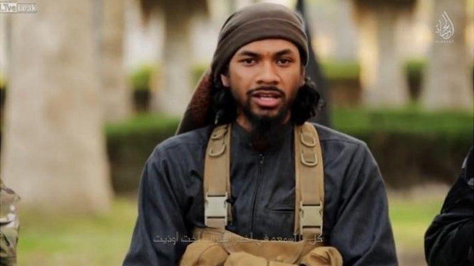 Screengrab from a video showing Australian Islamic State militant Neil Prakash