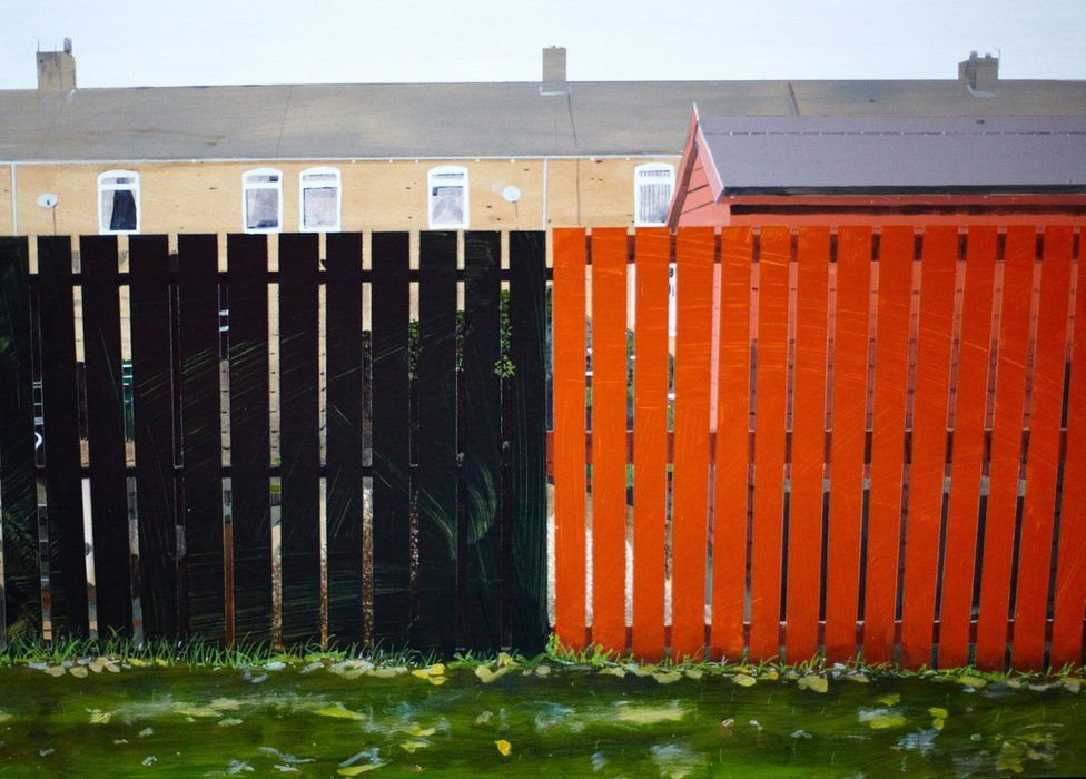 Untitled Fence Painting
