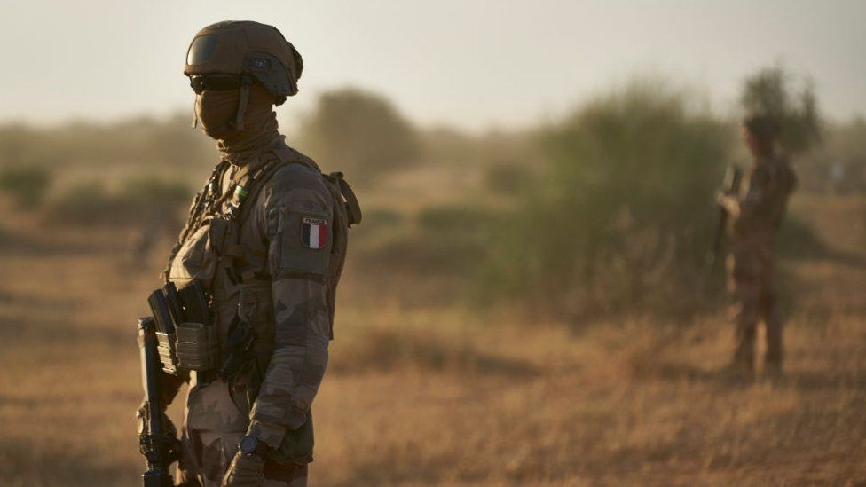 A French soldier in Burkina Faso