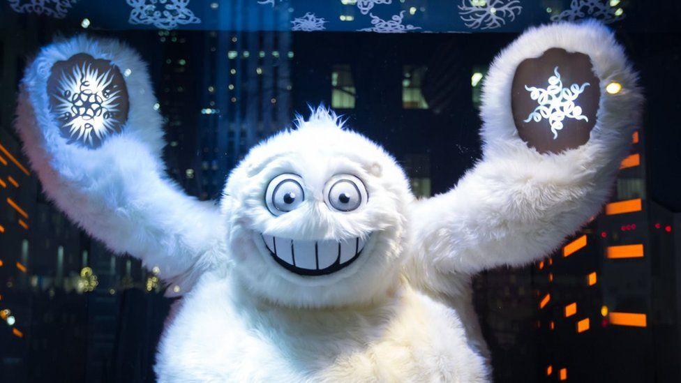 Yeti at the Saks Fifth Avenue seasonal holiday windows on December 11, 2013 in New York City
