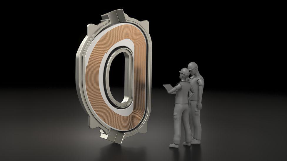 Illustration of a CFS magnet