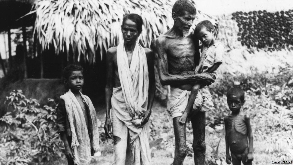 Famine victims in Bengal, November 1943