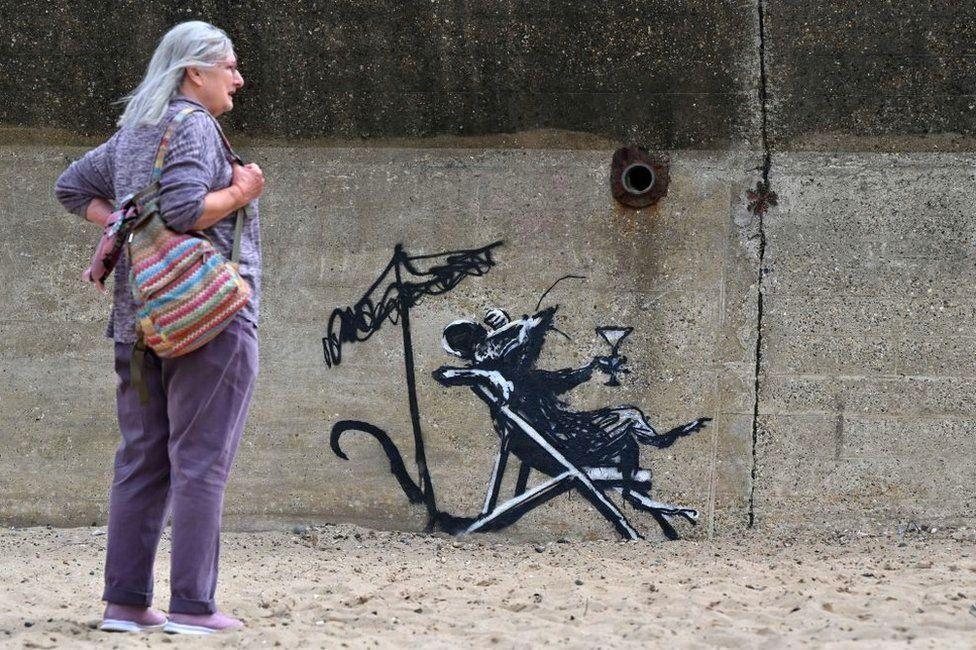 Banksy work in Lowestoft