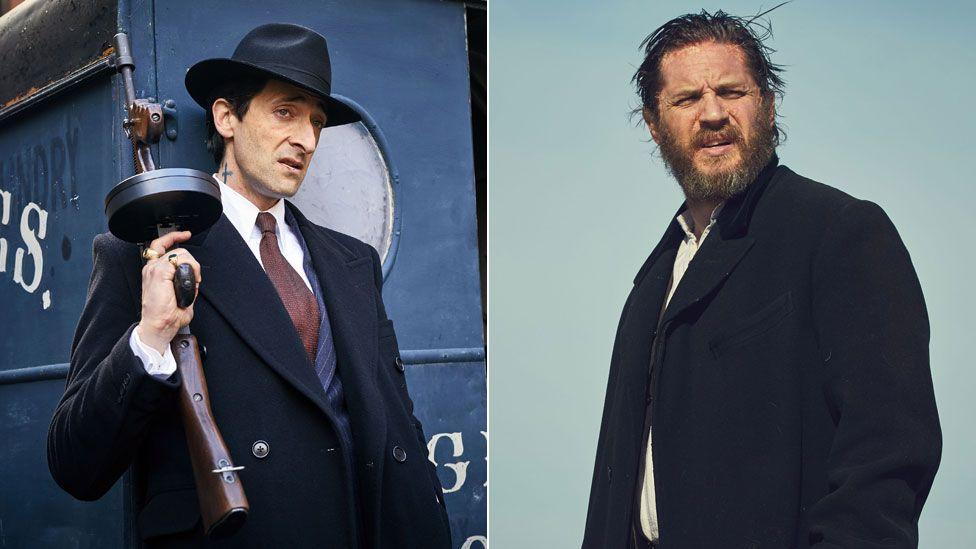 Adrien Brody and Tom Hardy in Peaky Blinders