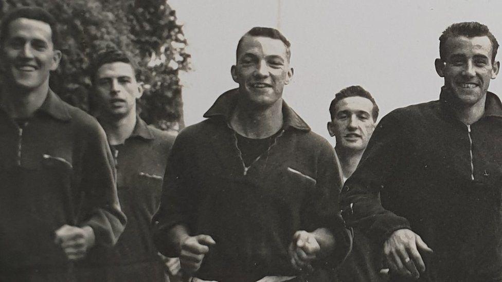 Tony Claypole running with team mates