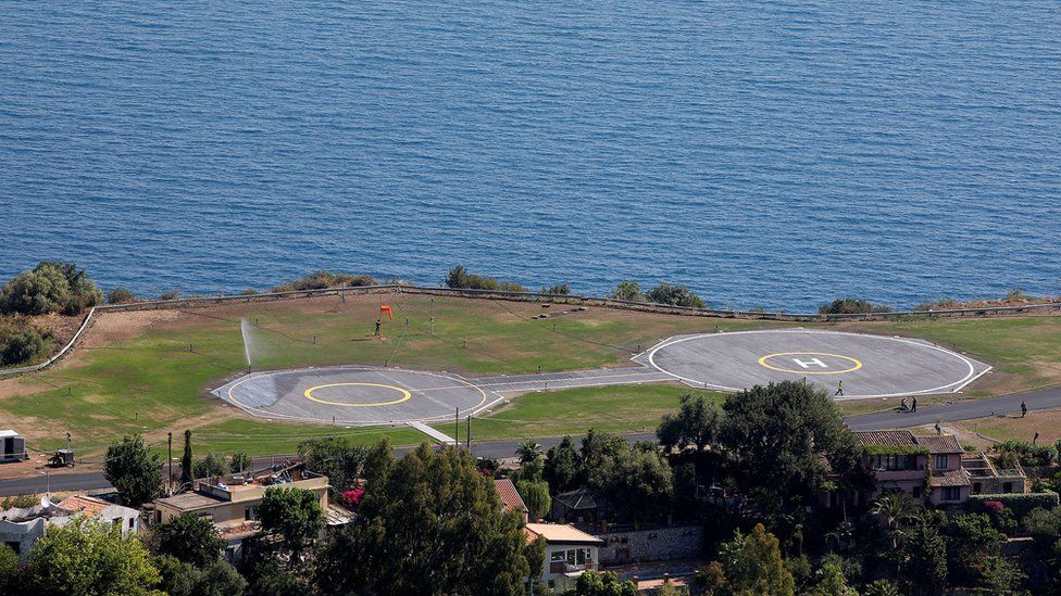 New helicopter landing zone in Taormina, Italy May 18, 2017