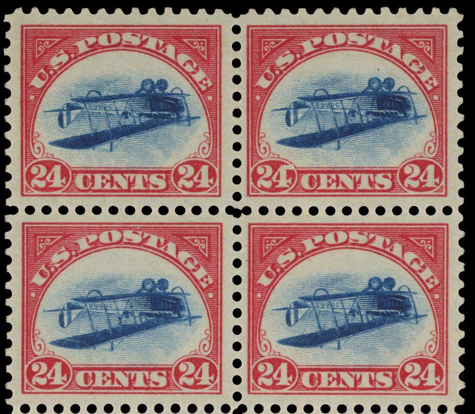 The 24-Cent Inverted Jenny Plate Block