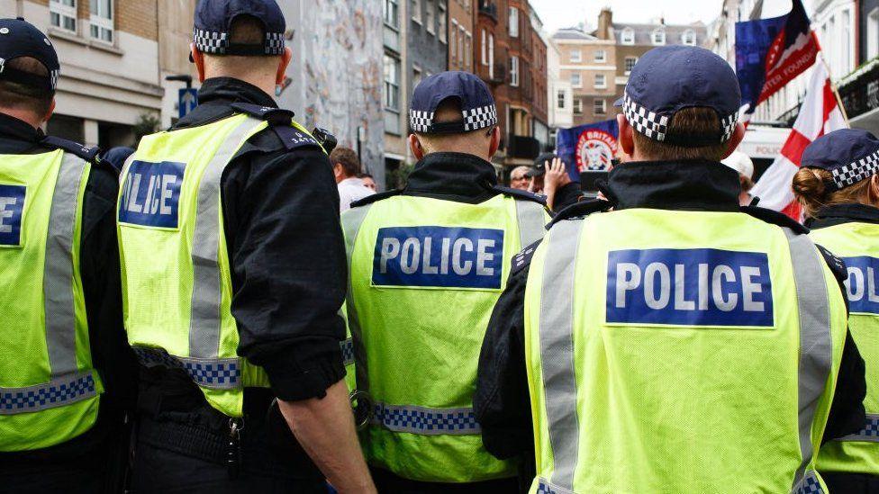 Metropolitan Police Officers in Central London
