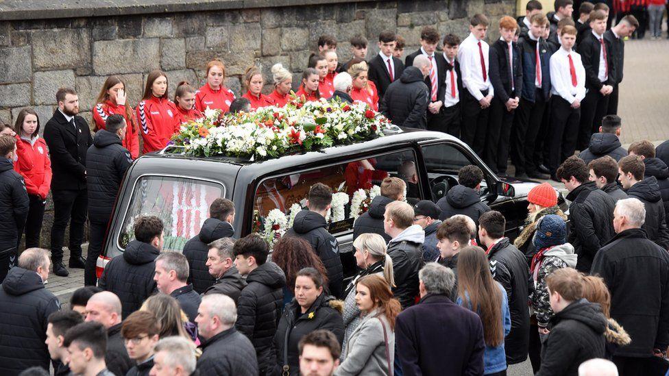 Derry City captain Ryan McBride is laid to rest - BBC News