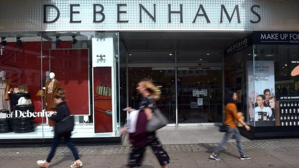Debenhams store front