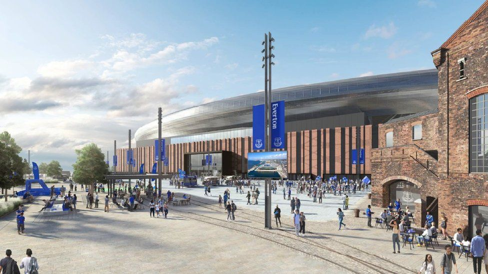 Everton S New Bramley Moore Dock Stadium Recommended For Approval Bbc News