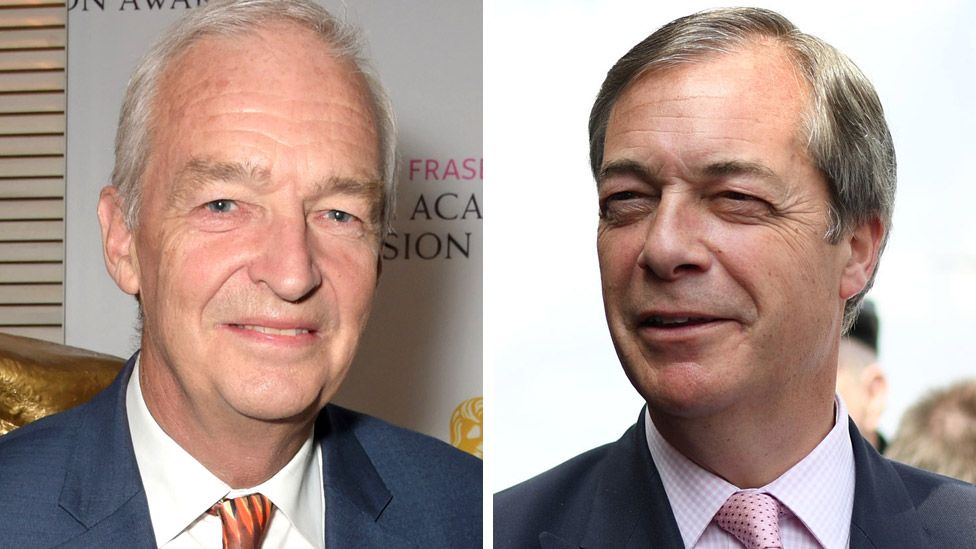 Jon Snow and Nigel Farage