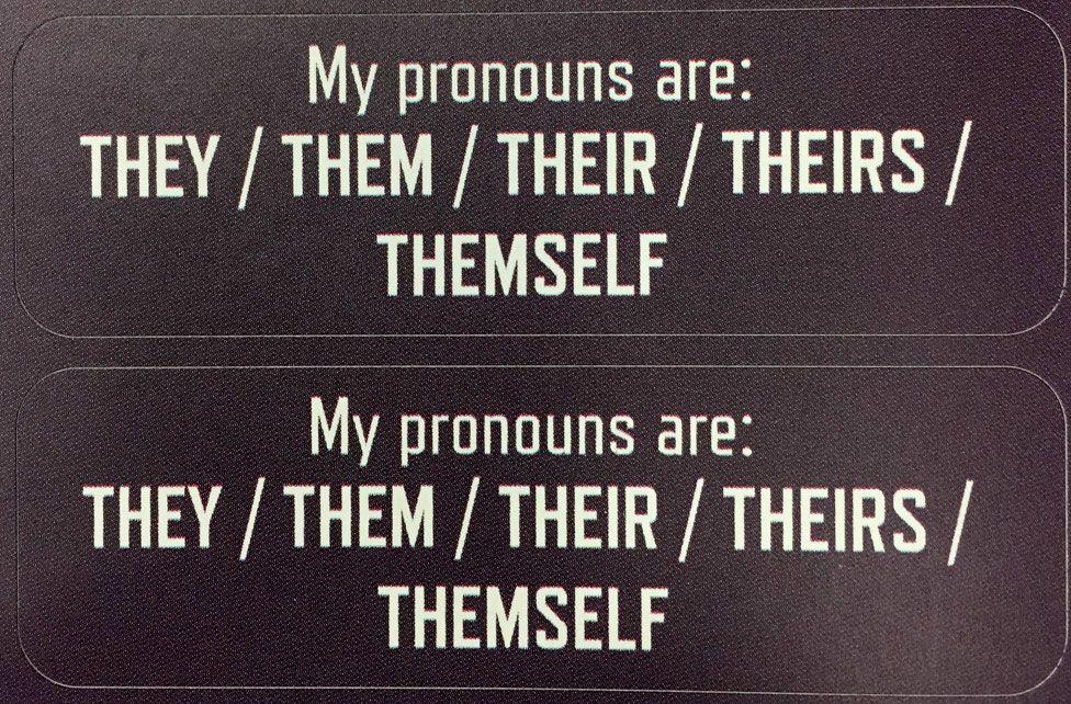 Pronoun sticker
