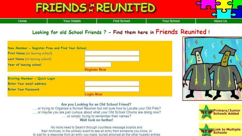 Friends Reunited website in 2001