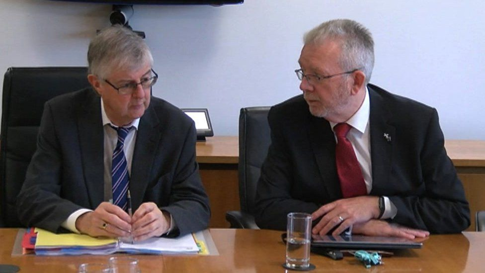 Mark Drakeford and Mike Russell